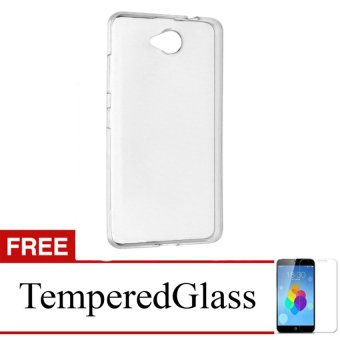 Case for Smartfren Andromax A - Clear + Gratis Tempered Glass - Ultra Thin Soft Case