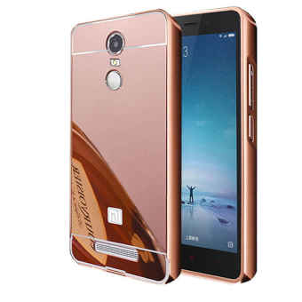 Case for Xiaomi Redmi Note 3 Pro Aluminium Bumper With MirrorBackdoor Slide - Rose Gold
