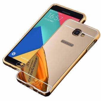 Case Metal for Samsung Galaxy J7 Prime Aluminium Bumper With MirrorBackdoor Slide - Gold