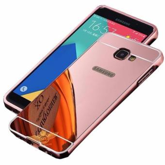 Case Metal for Samsung Galaxy J7 Prime Aluminium Bumper With MirrorBackdoor Slide - Rose Gold