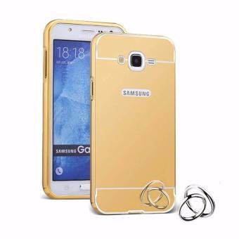 Case Metal for Samsung Galaxy V2 (G106) Aluminium Bumper WithMirror Backdoor Slide - Gold
