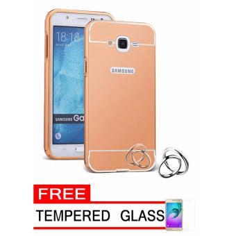Case Metal for Samsung Galaxy V2 (G106) Aluminium Bumper WithMirror Backdoor Slide - Rose