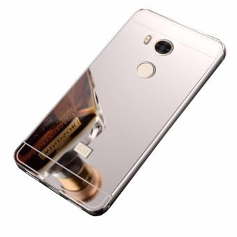Case Metal for Xiaomi Redmi 4 Prime Aluminium Bumper With MirrorBackdoor Slide - Silver