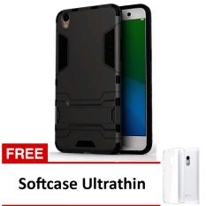 Case Oppo F1 Plus / R9 Casing Transformer Series - Black + Free Softcase Ultrathin