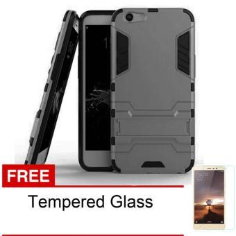 Case Oppo F1S A59 Transformer Robot Casing Iron Man - Abu-Abu + Free Tempered