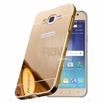 Case Samsung Galaxy Grand Prime Bumper Slide Mirror G530 HardCase Metal Glossy Casing