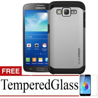 Case Slim Armor For Samsung Galaxy Grand 2 Free Temperedglass Silver