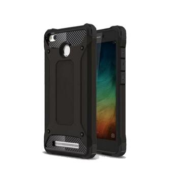 Case Tough Armor Rugged Capsule TPU Shockproof Back Case Xiaomi Redmi 3s / 3 Pro - Black