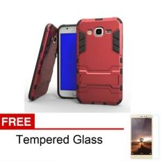 Case TPU + PC Phone Case for Samsung Galaxy Grand 2 ( 7106 ) - Merah