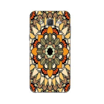 Cases for Samsung Galaxy J5 2015 J5008 Soft TPU Silicone PhoneProtective Back Covers Shell Skin Blooming Flowers Pattern - intl