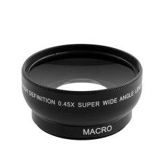 Cembung OEM 0.45 x sudut lebar lensa makro untuk profesional Nikon D3200