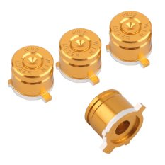 CHEER New 4 Pcs Aluminum Metal Bullet Buttons Kit For Playstation 4 PS4 Controller Gold