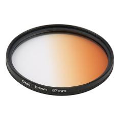 CHEER Universal 67mm Filters Circo Mirror Lens Gradient UV For DSLR Camera Lens Brown