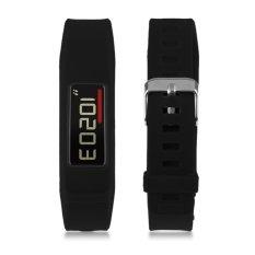 Classic Buckle Wristband Replacement Bracelet Silicon Strap For Garmin Vivofit 2 (Black) - Intl