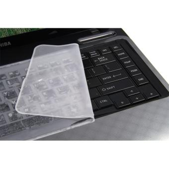 Clear White Universal Silicone Keyboard Protector Skin Cover for 14Inch Laptop Notebook