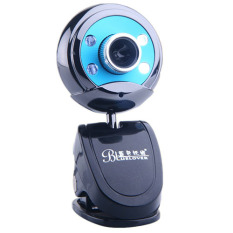 Clip-on HD Webcam Rotatable Web PC Camera with Night Version For PC Laptop (Blue) (Intl)
