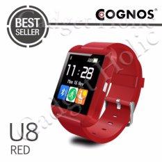 Cognos U Watch U8 Smartwatch - Jam Tangan Pria - Merah - Rubber
