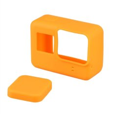 Colorful Durable Silicone Protective Camera Case Cover With Lens Cap For Gopro Hero 5 (Orange) - Intl