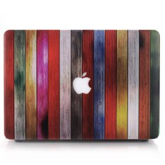 Colorful Wood Strips Laptop Case Hard Shell for MacBook Air 11.6-inch A1370 A1465 - intl