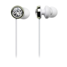 Cresyn C410E Earphones Stereo Headphones Swarovski Crytals Green / GENUINE