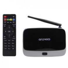 CS918 Android 4.4.2 Rock-chips RK3128 Smart Media Player TV BOX Mali-400MP2 Quad Core 400MHz Black