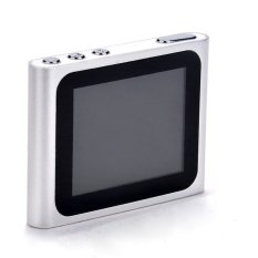 Sunweb Popular Slim Sport Style 6Th Gen 1.8Inch Screen Lcd Mp4 Player Choose Playing Music Fm Sport Radio Video Player (Silver) (Intl)