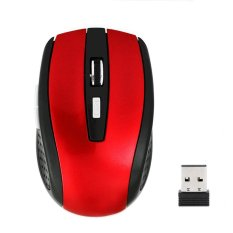 Cyber 2.4Ghz Cordless Wireless Optical USB Mouse (Red)