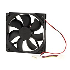Cyber Computer PC CPU Cooling Case Fan Cooler 120*120*25mm 12.4 Pin Black