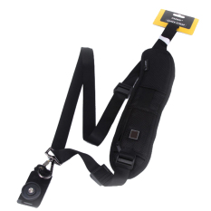 Sunweb Convenient Quick Rapid Camera Single Shoulder Sling Belt Strap For SLR DSLR (Black)