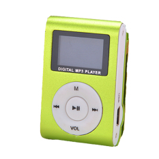 Sunweb Mini Clip Mp3 Player Fm Radio Portable Digital Sport Music Player with Screen Support For 32Gb (Green) (Intl)