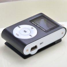 Sunweb Lcd Metal Clip Mp3 Music Player with Card Slot Mini Mp3 Player Fm Radio Black (Black) (Intl)