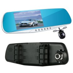 D30.4.3 Inch Car Rearview Mirror Dvr Dual Lens Car Dvr Full Hd 1080p Video Recorder Car Camera Reverse Image Vehicle Dash Cam - Intl (Intl)
