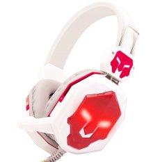 Deep Bass Portable Audio Earphone Headphone (White / Red) - Intl