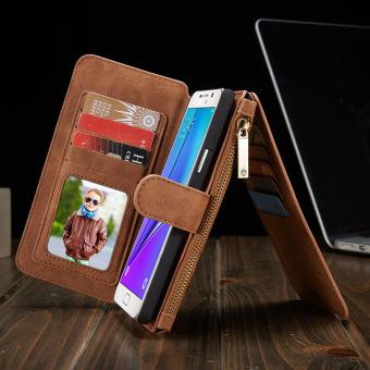 S7 Edge Coklat Source Dompet kulit penutup Flip Case telepon untuk Samsung Galaxy .