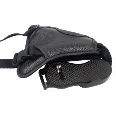 DSLR Camera PU Leather Grip Rapid Wrist Strap Soft Hand Grip Camera Universal strap (Black)