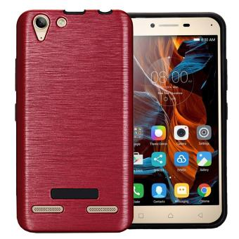 Dual Layer Brushed Case For Lenovo Vibe K5 / K5 Plus Anti-ScratchPC + TPU Protective Cover Red - intl