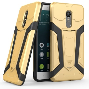 Dual Layer Robot Armor Case Cover For Xiaomi Redmi Note 4X TPU Bumper PC Back Hybrid Kickstand Gold