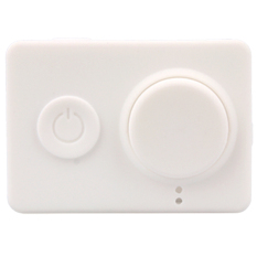 Dust-Proof Silicone Cases + Lens Cap Cover For Xiaomi Yi Action Cameras (White) - Intl