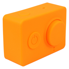 Dust-proof Silicone Cases + Lens Cap For Xiaomi Yi Sports Camera Protective Case Soft Cover For Xiao Yi Action Cameras (Orange) (Intl)