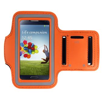 ELENXS Sports Jogging Gym Arm Band Cover Case For Samsung Galaxy S3 / S4 / S5 / M7 Running Cool Nylon Flexible Orange