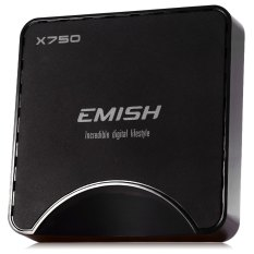 EMISH X750 TV Box Amlogic S905 Quad Core Android 5.1 2GB RAM 16GB ROM Pre-installed 2.4G WiFi Bluetooth HDMI (BLACK)