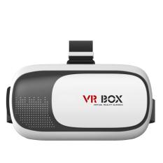 Enhanced Version VR Virtual Reality 3D Glasses + Bluetooth Remote Controller - Black- Intl