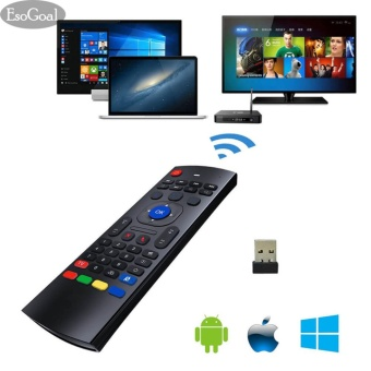 EsoGoal Mini TV Remote Controller Wireless Keyboard Mouse Portable Infrared Control Air Mice for TV, Android, Windows, Lilux, etc - intl
