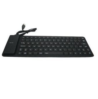 Fang Fang 85 Key USB Silicone Soft Keyboard Waterproof Keyboard Black