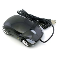 Ferrari Car Shaped Optical USB Mouse (Black)
