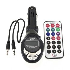 FM Modulator INNOVA + USB Output Flashdisk Dan Slot Micro SD / 32in1 Car MP3 Player Wireless FM Transmitter Modulator Support USB SD CD MMC + Remote - Hitam