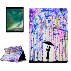 For iPad Pro 10.5 inch Beautiful Ink Drops Girl Pattern Horizontal Flip Leather Protective Case with Holder and Card Slots - intl