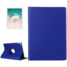 For iPad Pro 10.5 inch Litchi Texture 360 Degree Spin Multi-function Horizontal Flip Leather Protective Case with Holder(Dark Blue) - intl