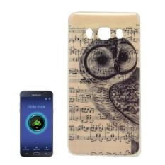 For Samsung Galaxy J7 (2016) / J710 IMD Owl Music Score Pattern Soft TPU