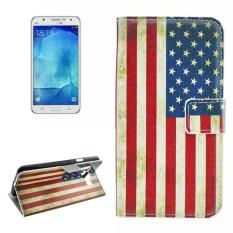 For Samsung Galaxy J7 (2016) / J710 US Flag Pattern Horizontal Flip Leather Case With Holder and Card Slots and Wallet - intl